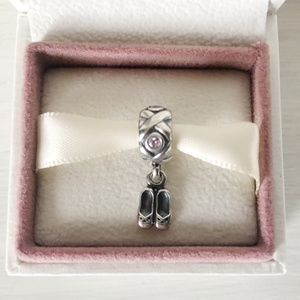 Authentic Pandora Retired Ballet Slippers Charm